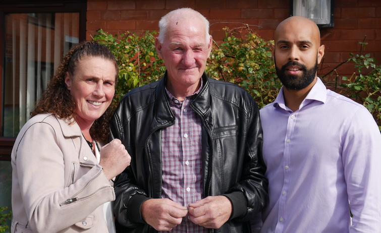 Boxer helps homeless pensioner find new home in Knowle