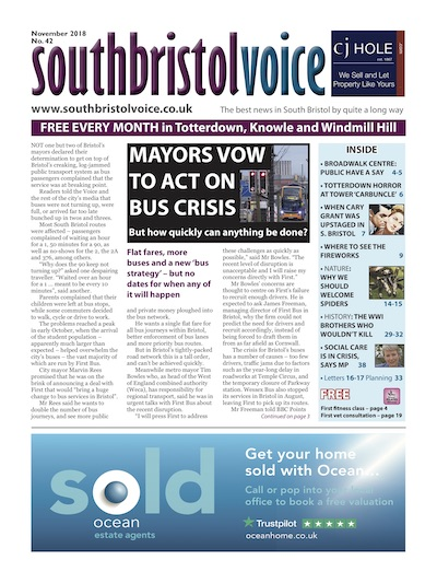 South Bristol Voice cover November 2018
