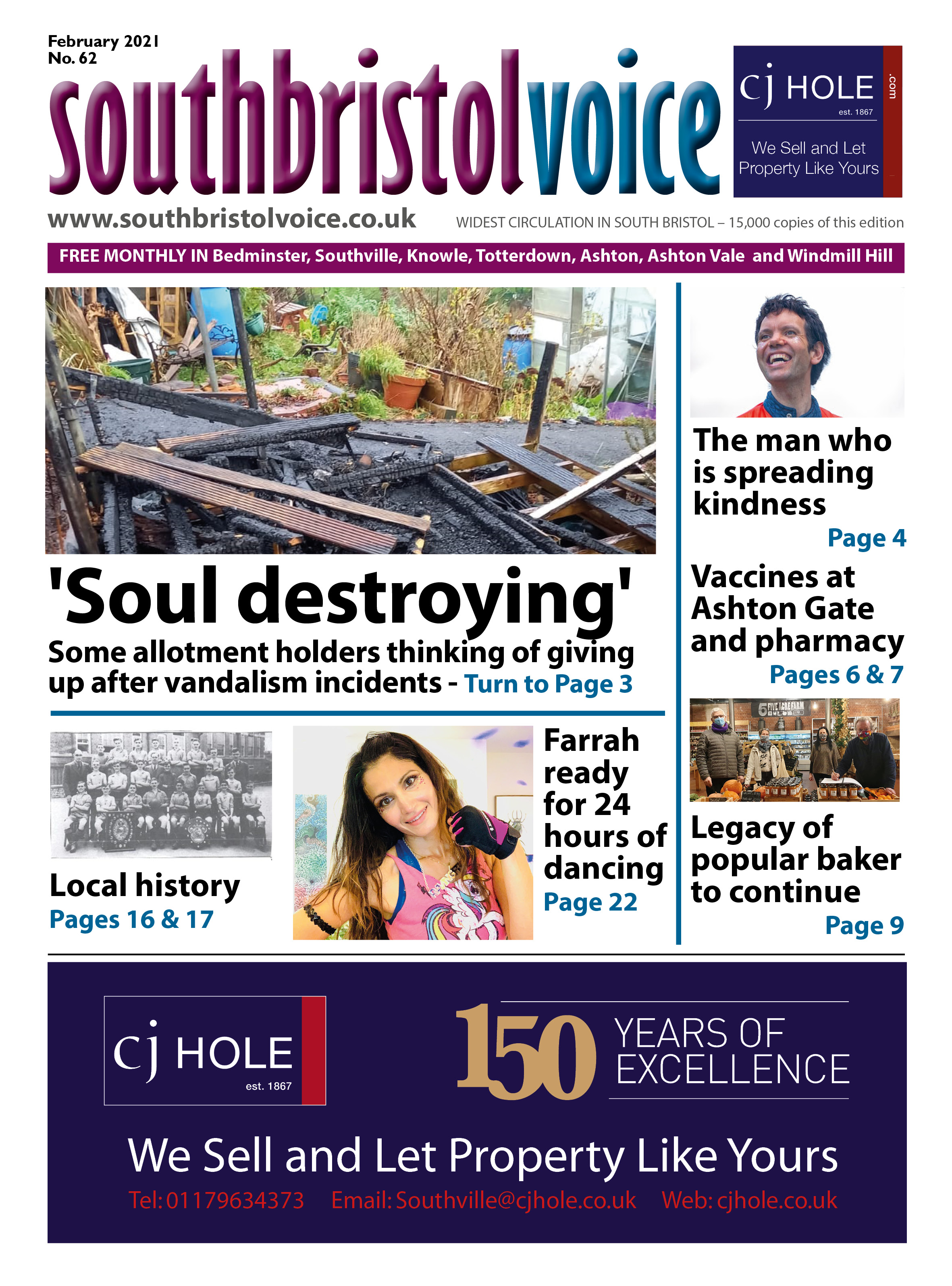 front page South bristol Feb 21