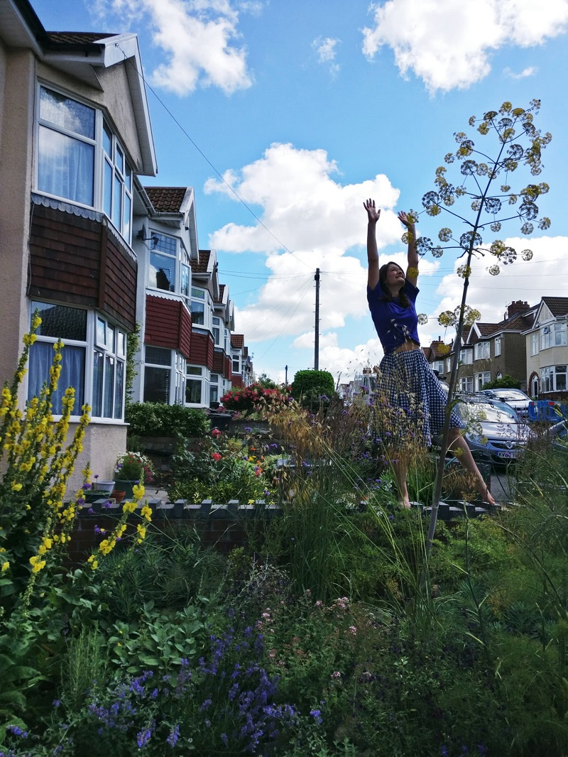 Heather and the giant fennel