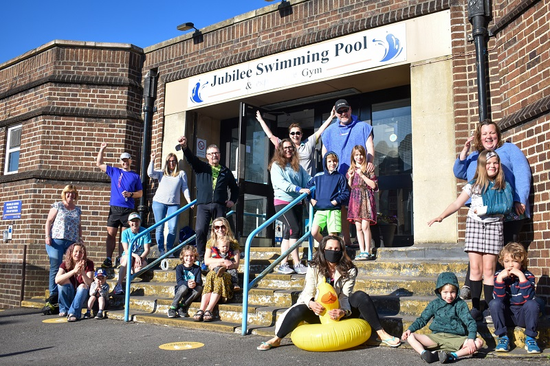Neighbourhood pool reopens with a splash - but campaigners say the 'fight is not over yet'