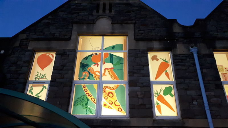 Luckwell primary school windows