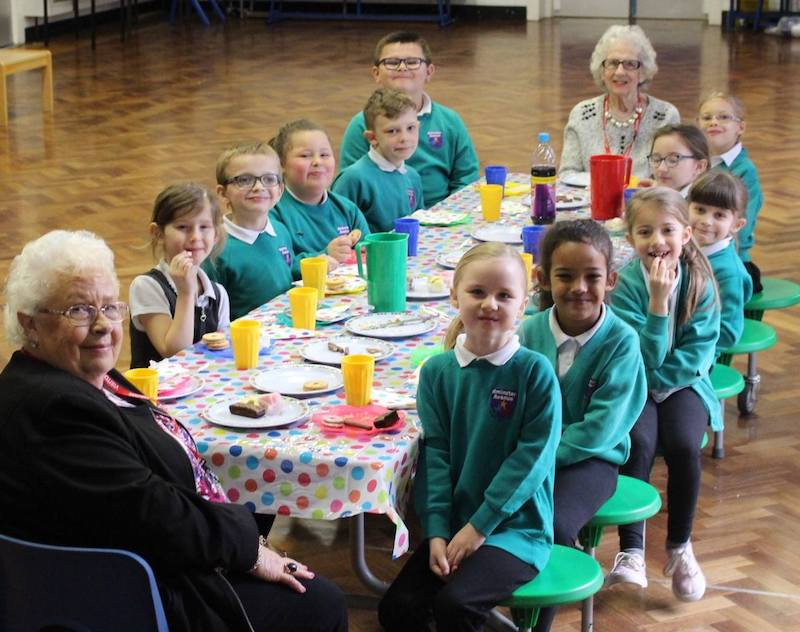 Bristol's stars of Gogglebox drop in on primary pupils