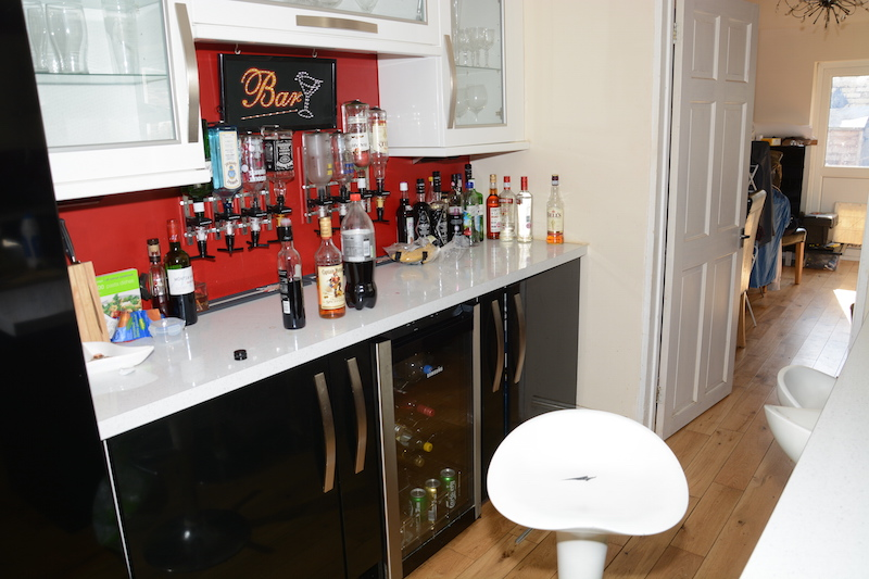 Bar at Nigel Wilkinson's house in Hill Avenue