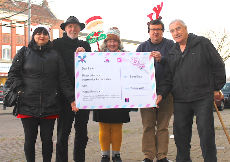 Campaigners ask Santa for a supermarket in Knowle West