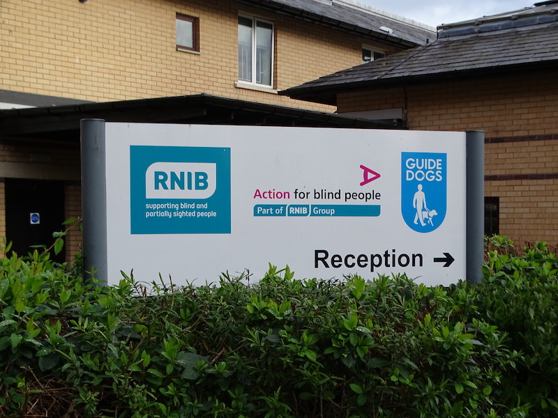 Blind community protest at closure of centre by RNIB