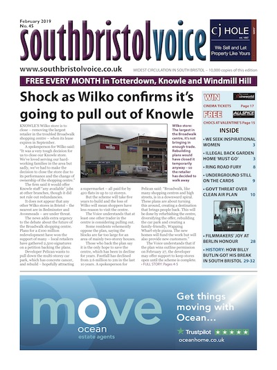 South Bristol Voice cover February 2019