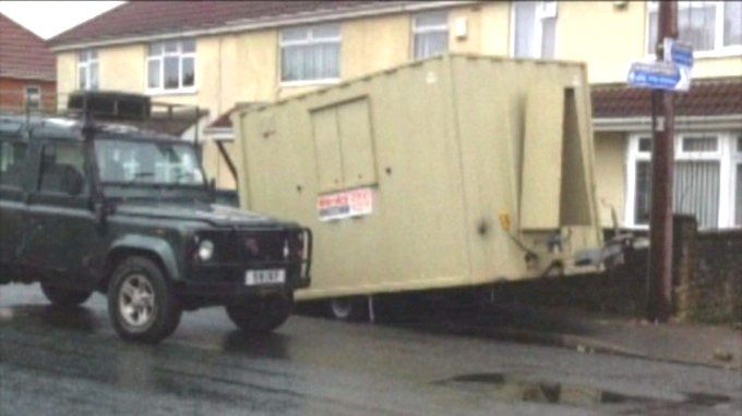 The Land Rover and the trailer which came loose killing Freddie