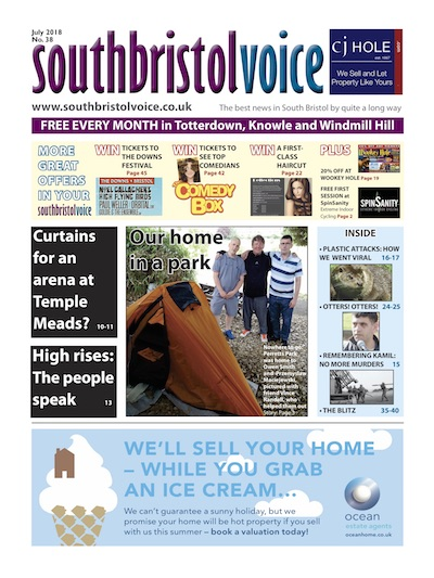 South Bristol Voice cover July 2018