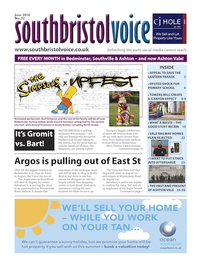 South Bristol Voice cover June 2018 Bedminster