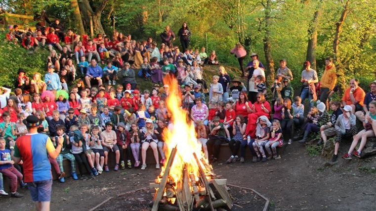 Scouts campfire