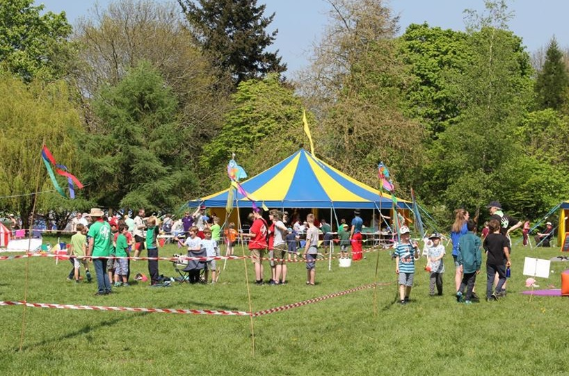 The Scouts' circus tent