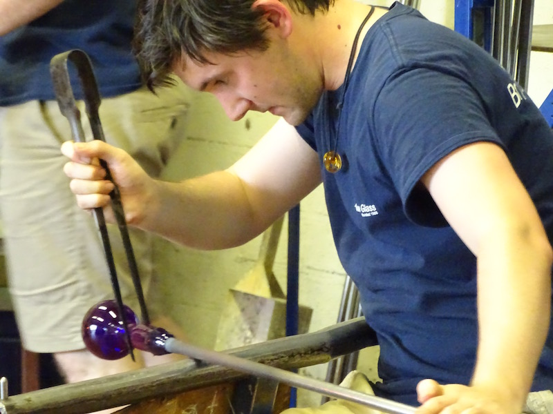 Glass making at Bristol Blue Glass