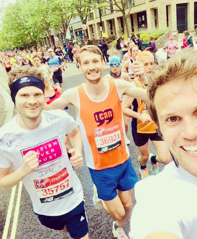 A Tale of Two Marathons ... cross-Channel challenge sees friends raise £7k for charity