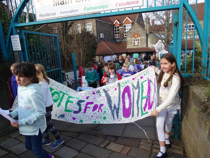 Hillcrest pupils on suffrage march
