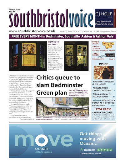 South Bristol Voice cover March 2019 Bedminster