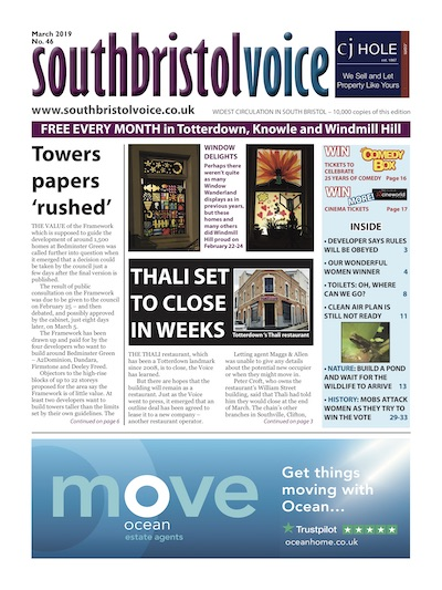 South Bristol Voice cover March 2019