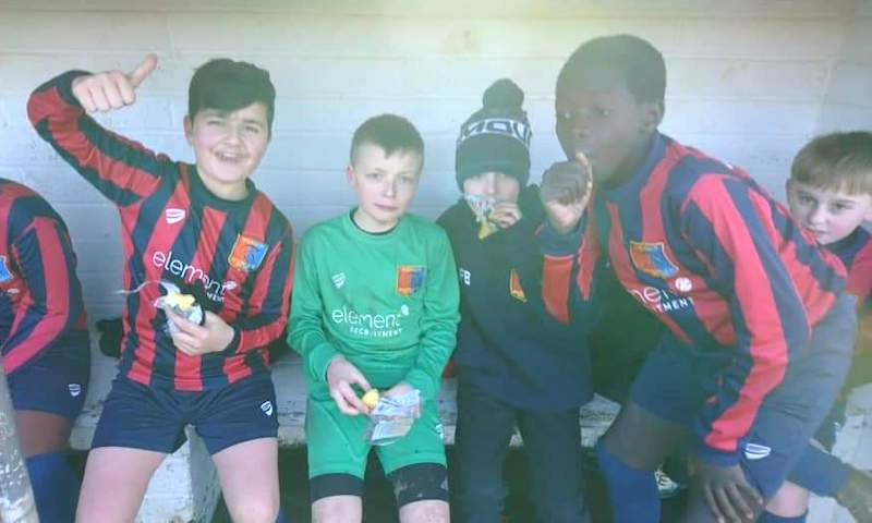 Youth football team finds a sponsor