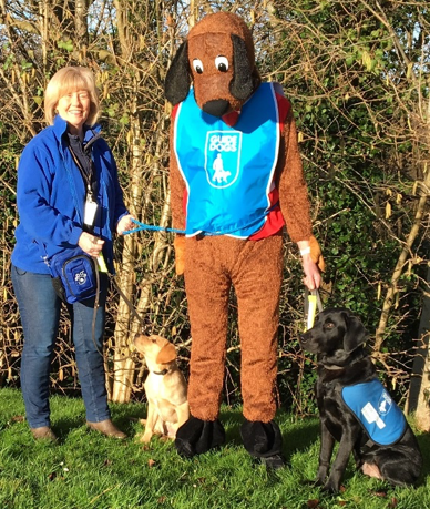 Walkies for David – dressed as a dog