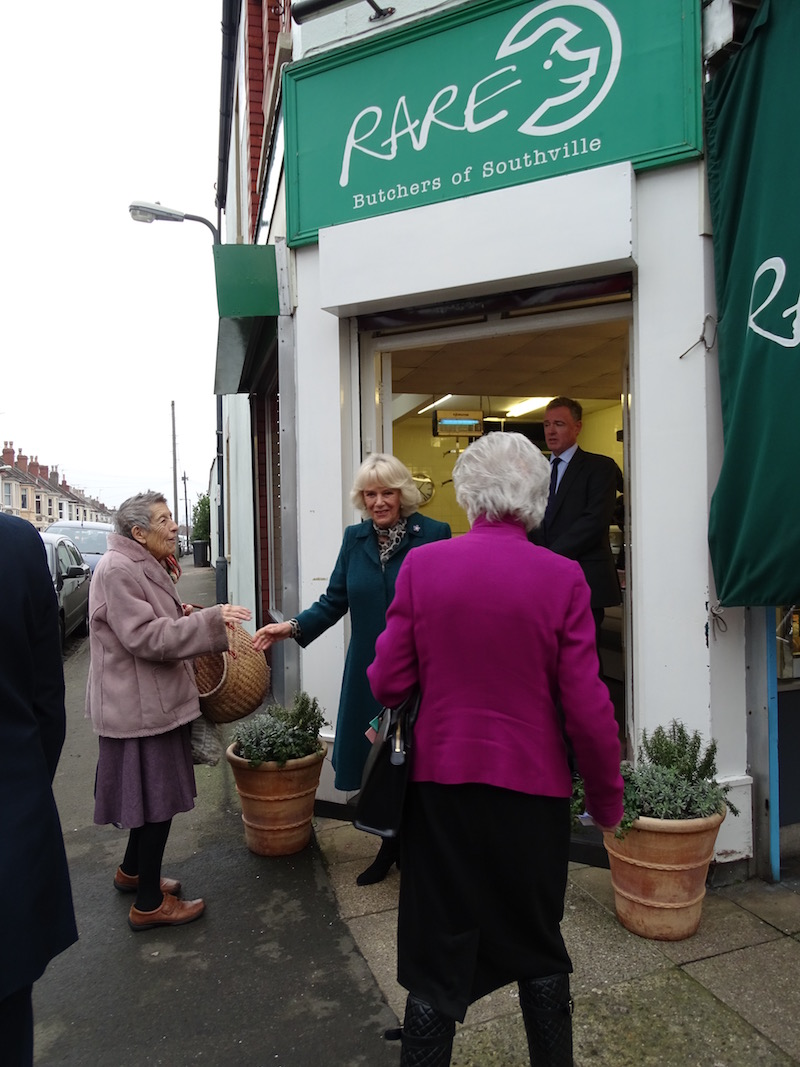 Camilla leaves Rare Meat Butchers on North Street