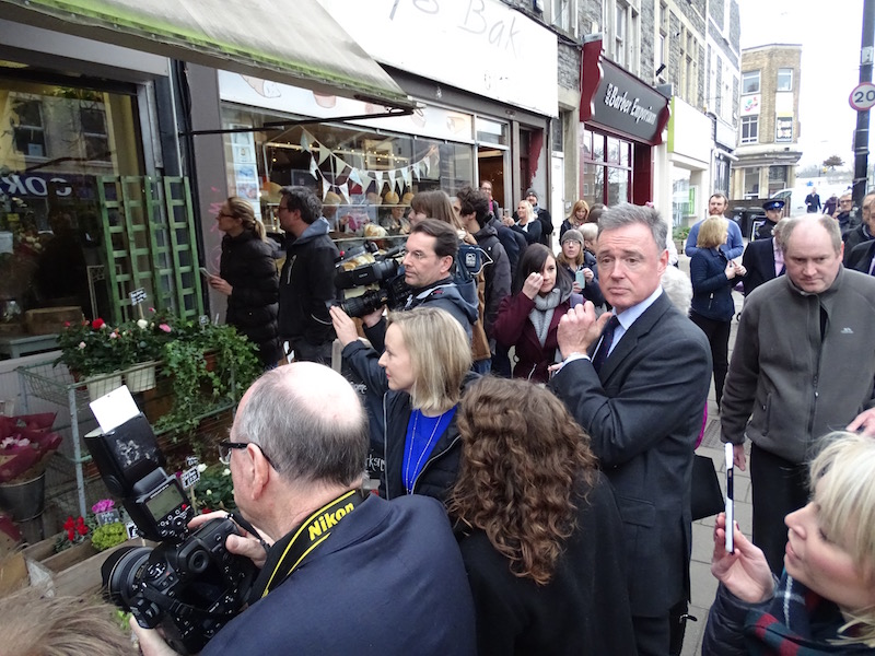 Hordes of press and TV crews followed the Duchess