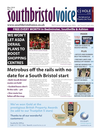South Bristol Voice cover May 2018 Bedminster