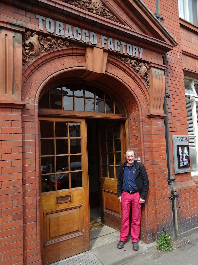 George Ferguson outside the Tobacco Factory theatre