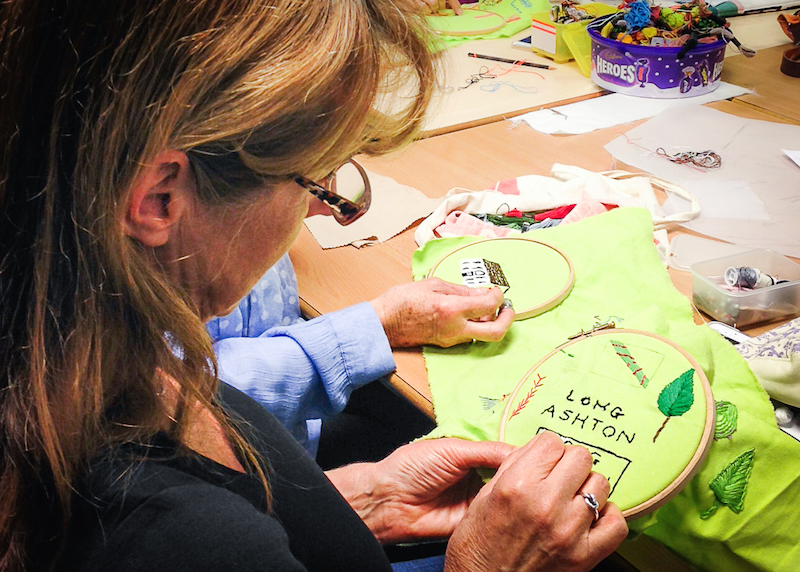 Bedminster embroiderers create a map to fill a gap