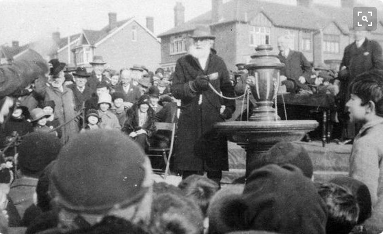 Fountain opening with Charles Perrett in 1930
