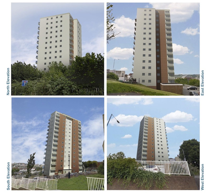 Polden tower cladding option 1