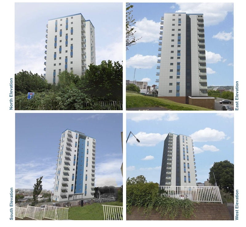 Polden tower cladding option 3
