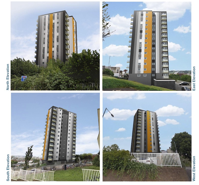 Polden tower cladding option 4