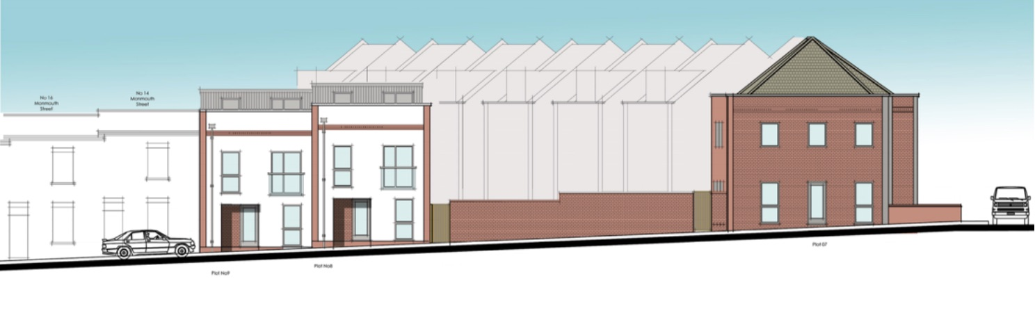 32-38 St John's Lane proposed frontage from Monmouth Street