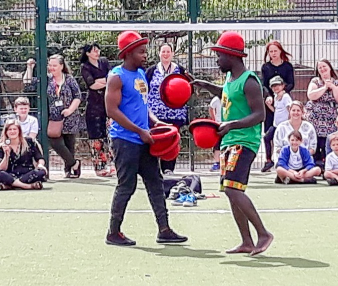 Circus Zambia wows local primary kids