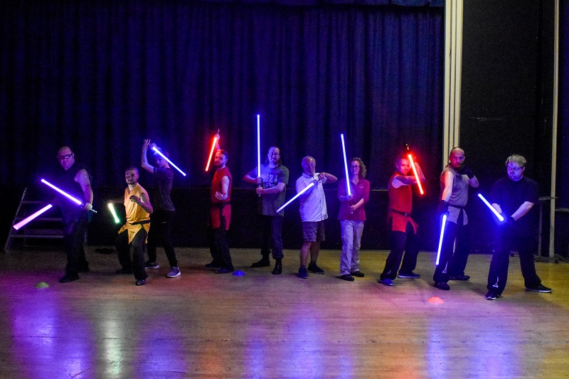 Light fantastic! Star Wars-inspired 'saber' combat comes to Knowle