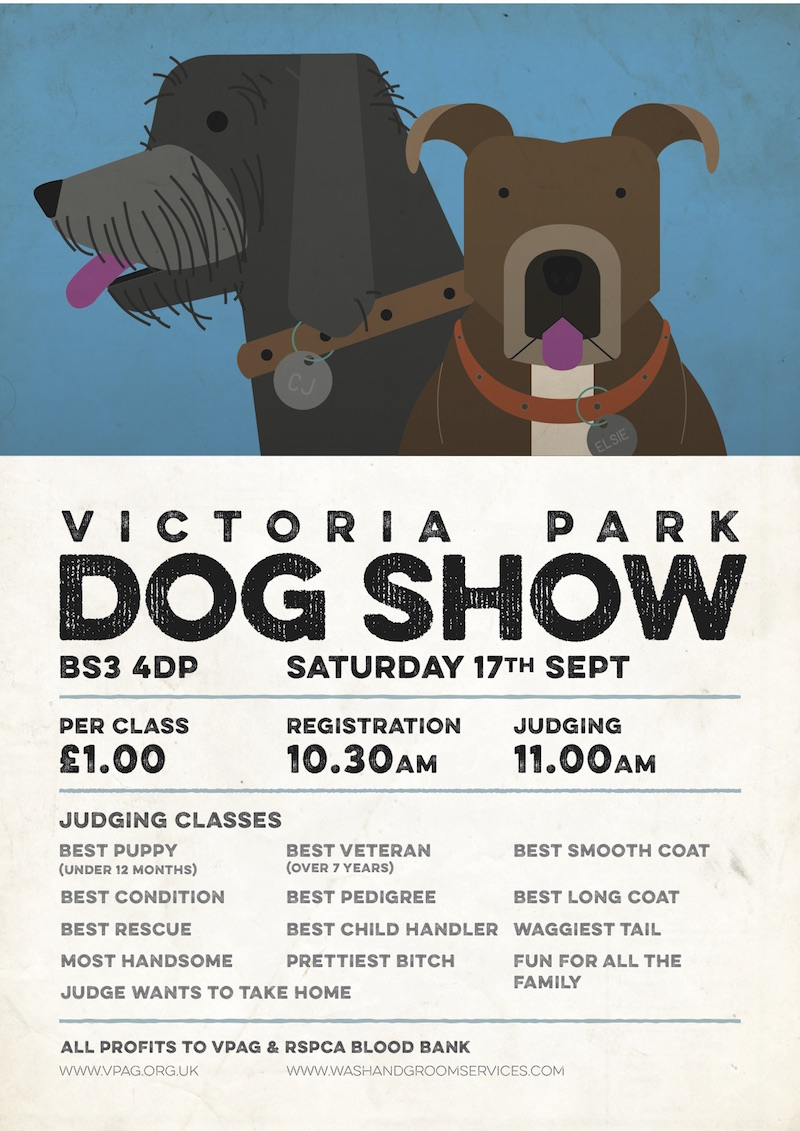 Victoria Park Dog Show poster