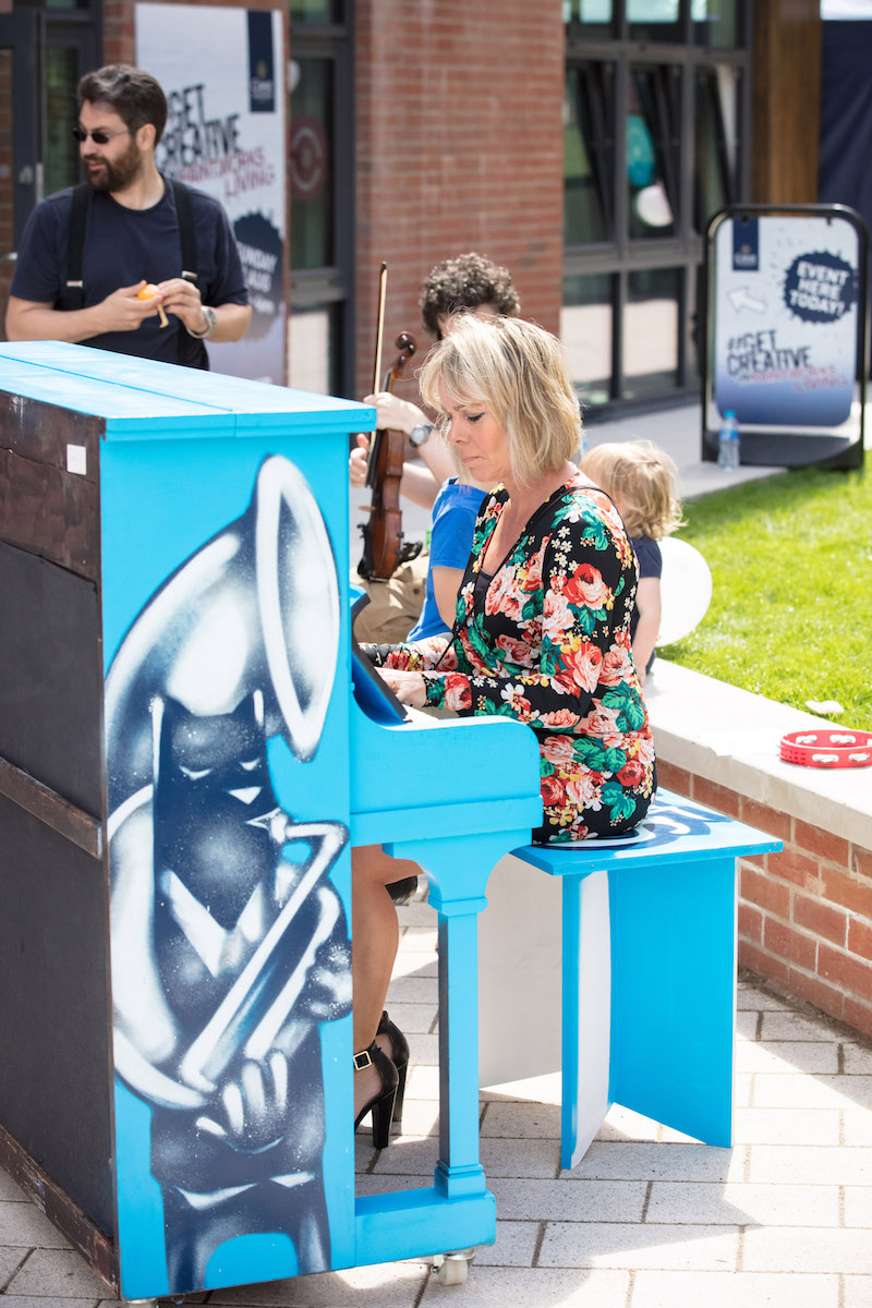 Pop-up piano at Paintworks