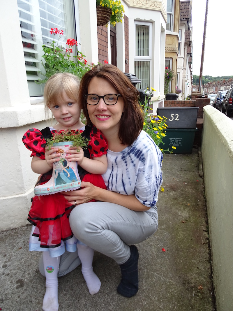 Imogen Mochan, 4, and mum Jules